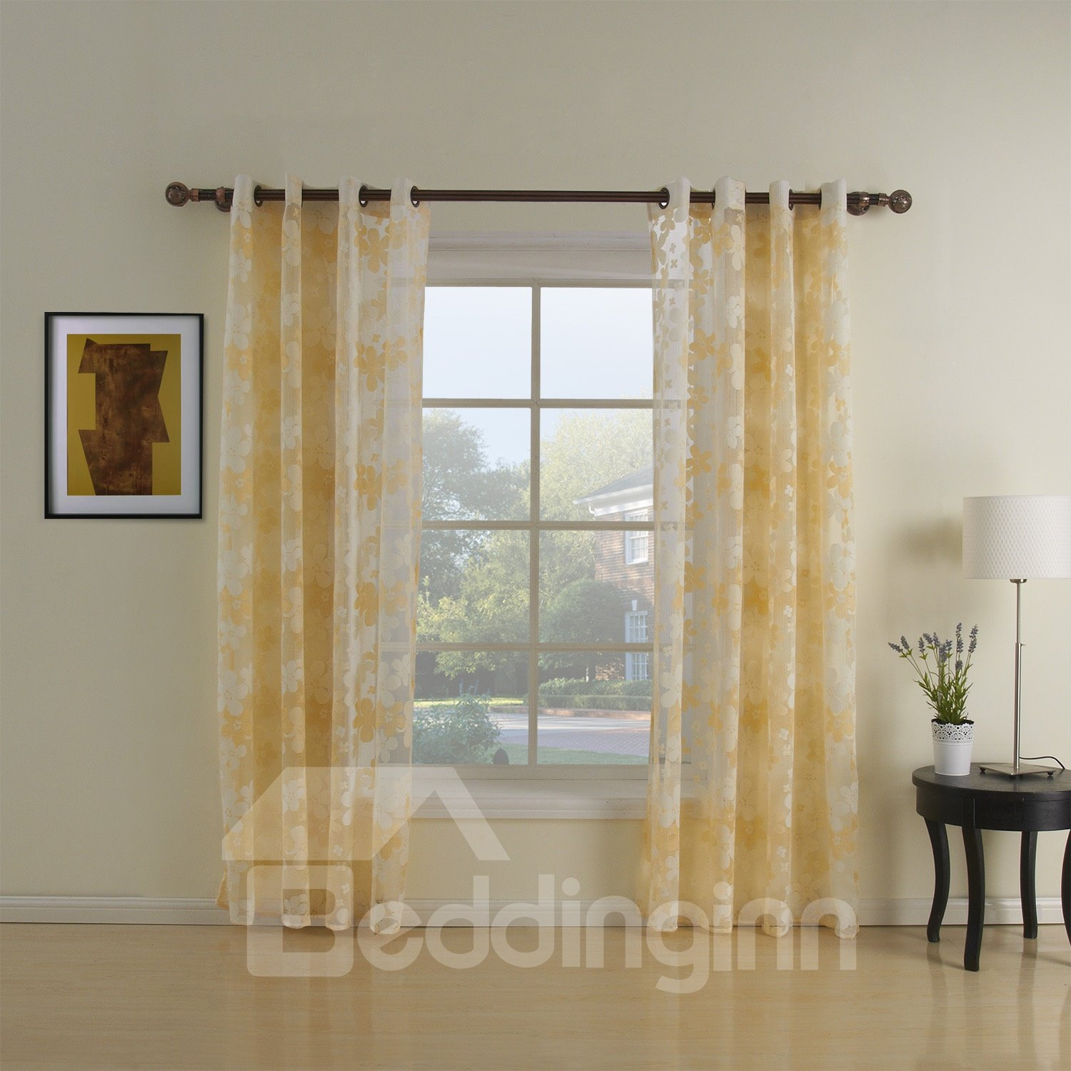Best Quality Fantastic Floral Custome Sheer Curtain
