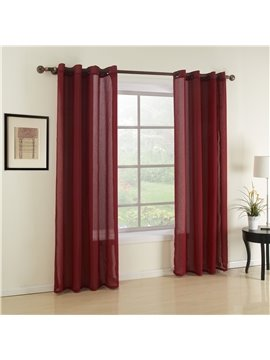 Fantastic Wonderful Simple Polyester Grommet Top Custom Sheer Curtain