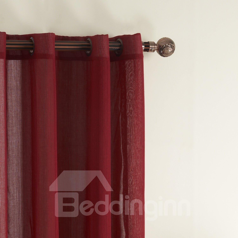 Fantastic Wonderful Simple Polyester Grommet Top Custom Sheer Curtain