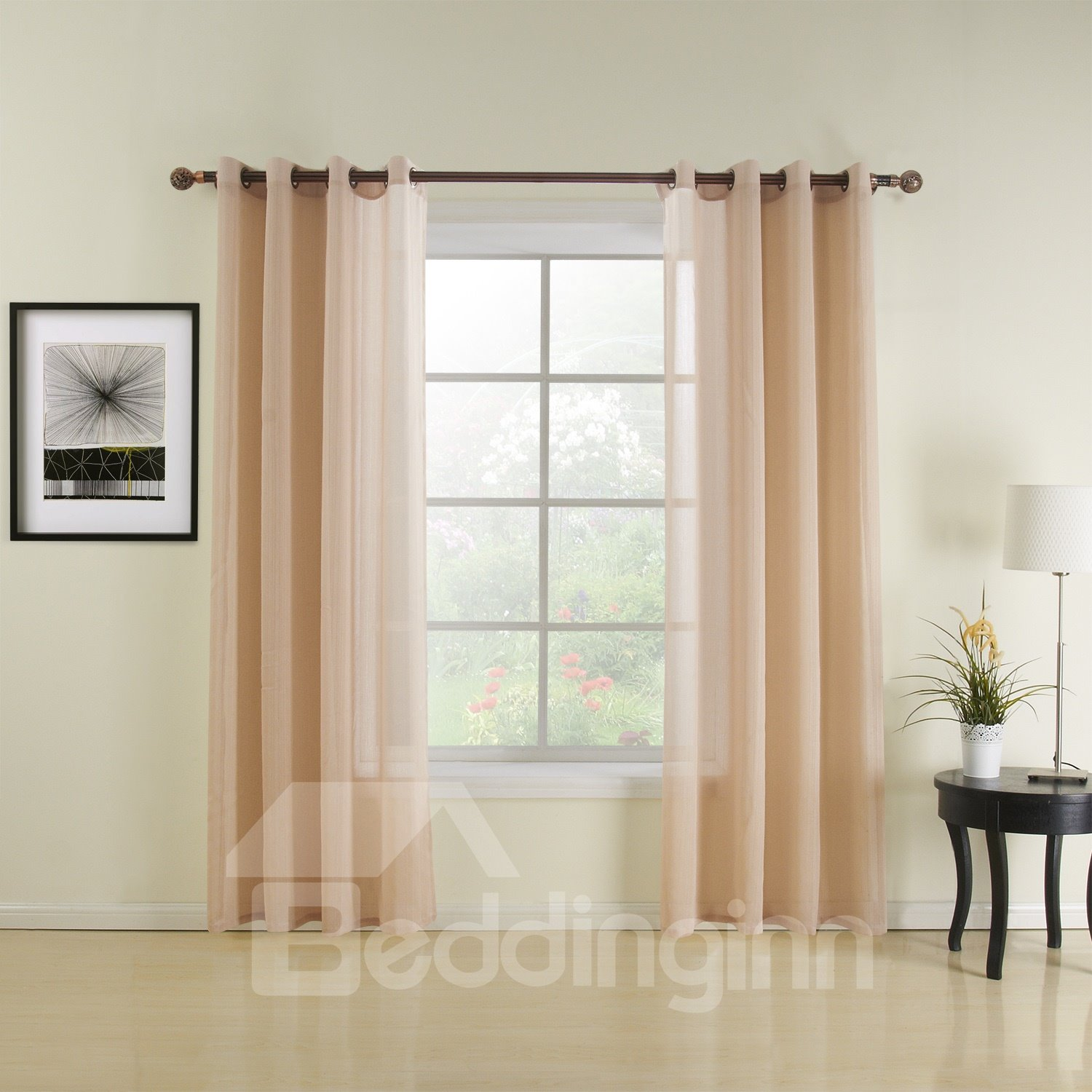 New Classic Wonderful Grommet Top Sheer Custom Curtain
