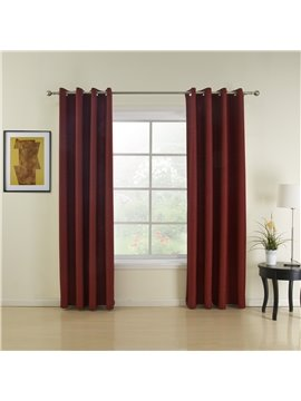 Modern Home Fashion Wine Red Grommet Top Custom Curtain
