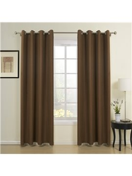 Gorgeous Amazing Grommet Top Coffee Custom Curtain