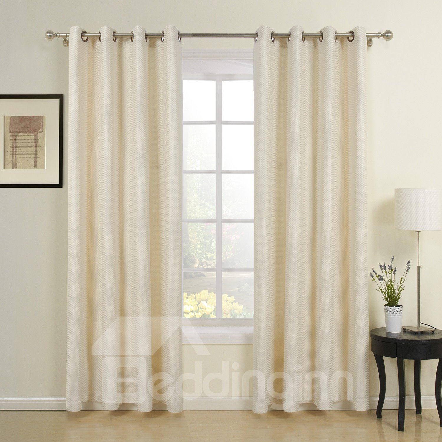 Creamy-White Elegant Wonderful Two Pieces Custom Curtain