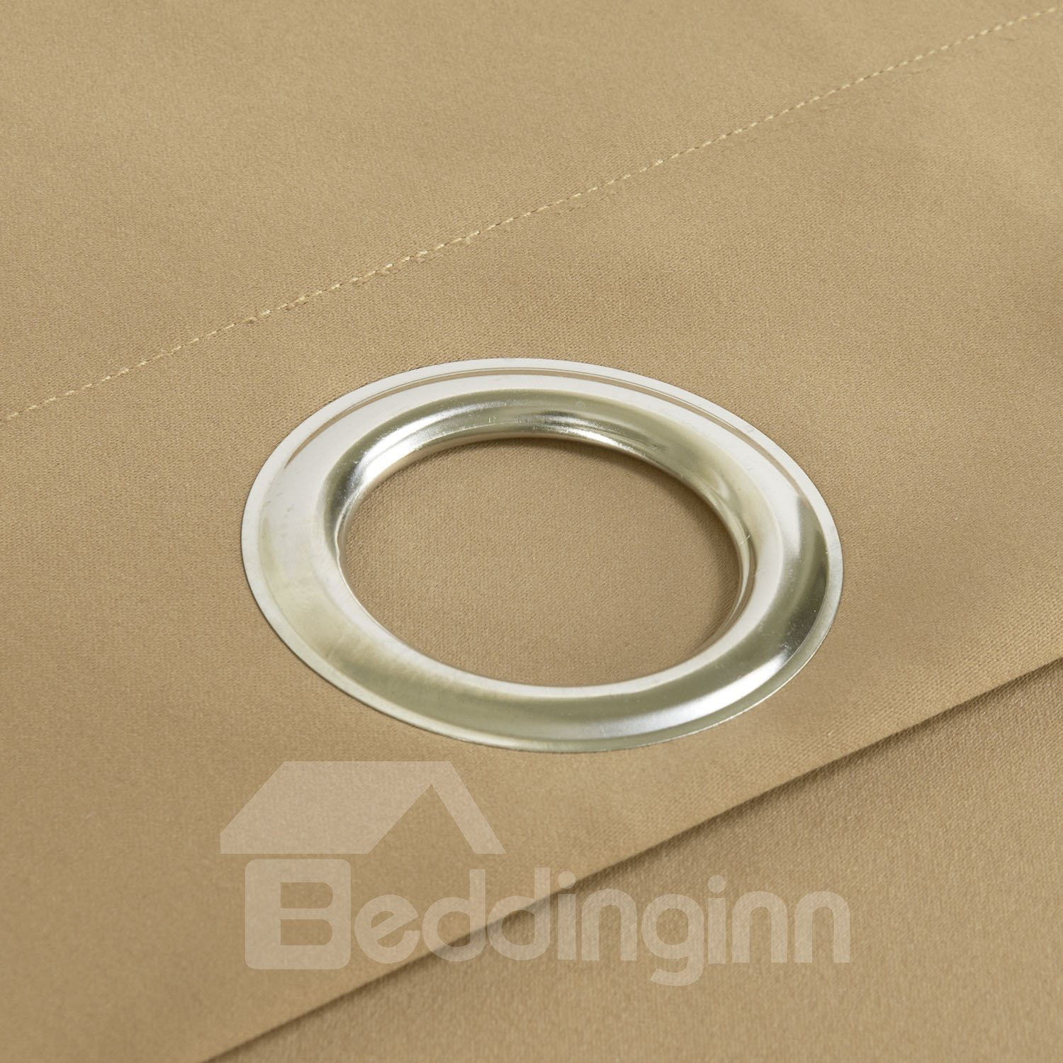 Modern Simple Wonderful Polyester Grommet Top Custom Curtain