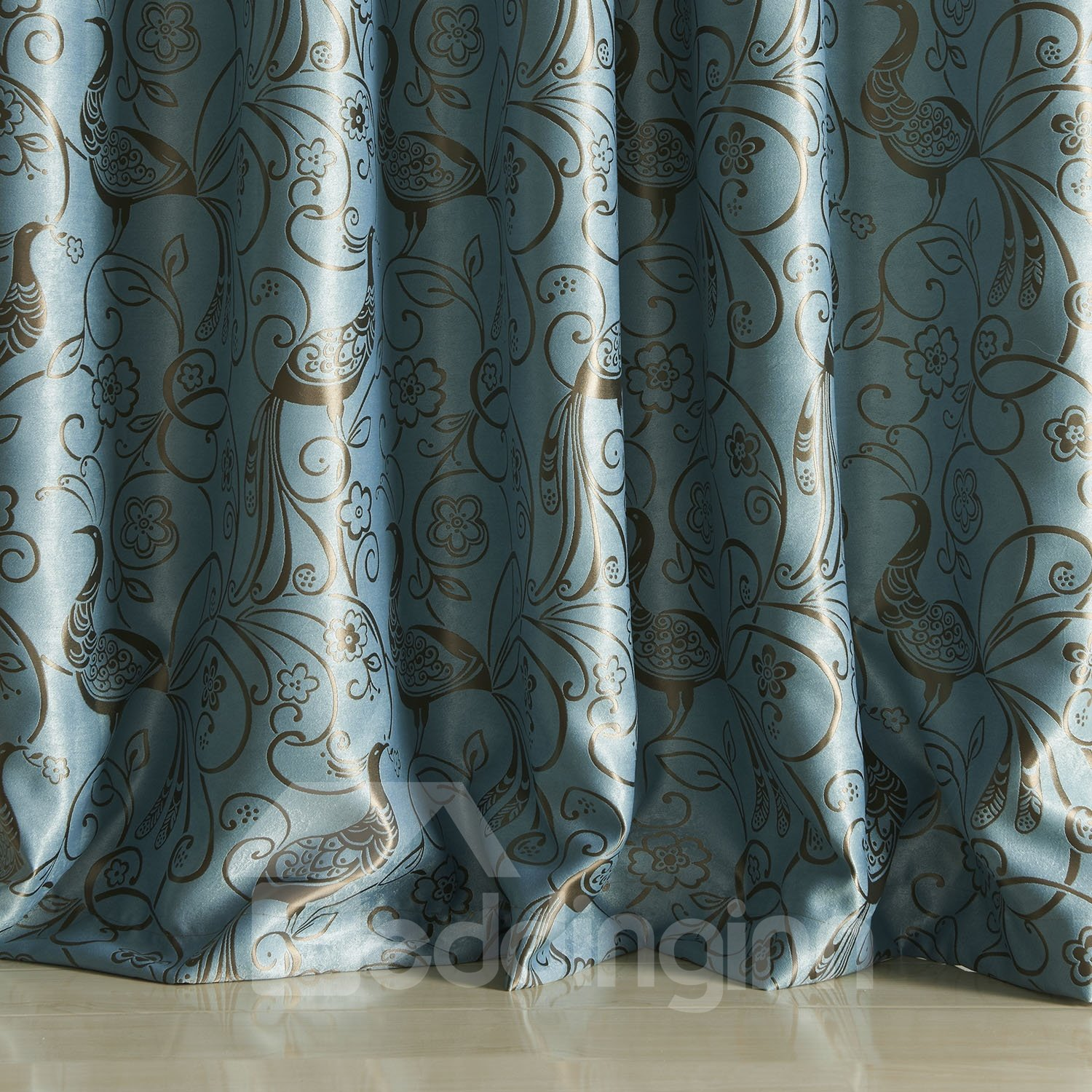 Chinese Classical Wonderful Grommet Top Custom Curtain