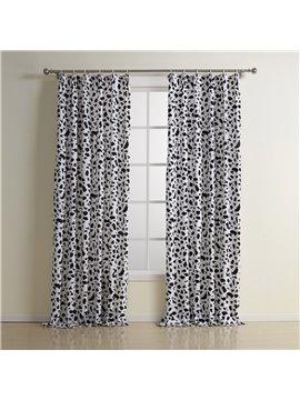 New Style Wonderful Double Pinch Pleat Cotton Custom Curtain