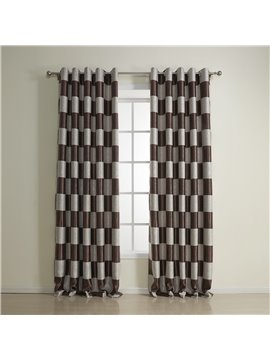 Top Quality Fantastic Brown Grommet Top Custom Curtain