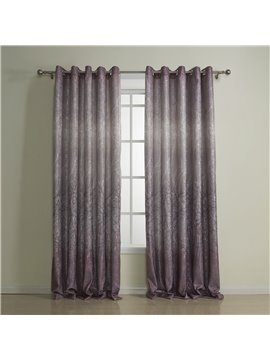 Best Quality Romantic Purple Grommet Top Custom Curtain