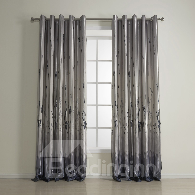 Fantastic Wonderful Polyester Classic Gray Custom Curtain