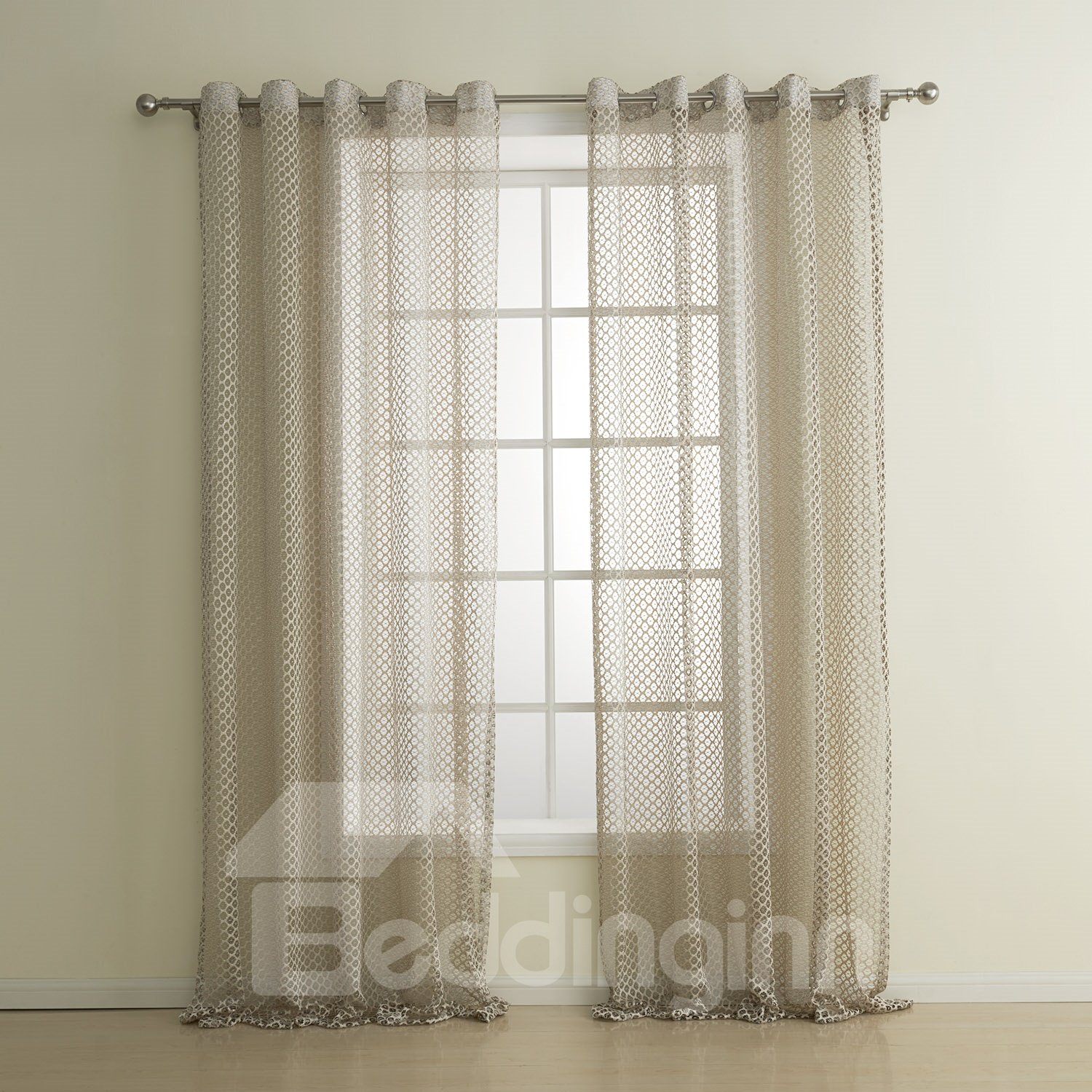 New style classic beige custom sheer curtain Beige curtains