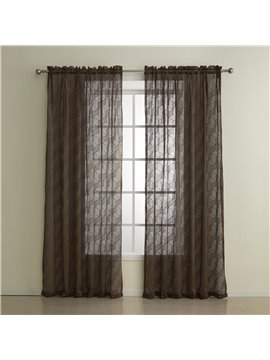 Wonderful Pretty Two Pieces Coffee Custom Sheer Curtain