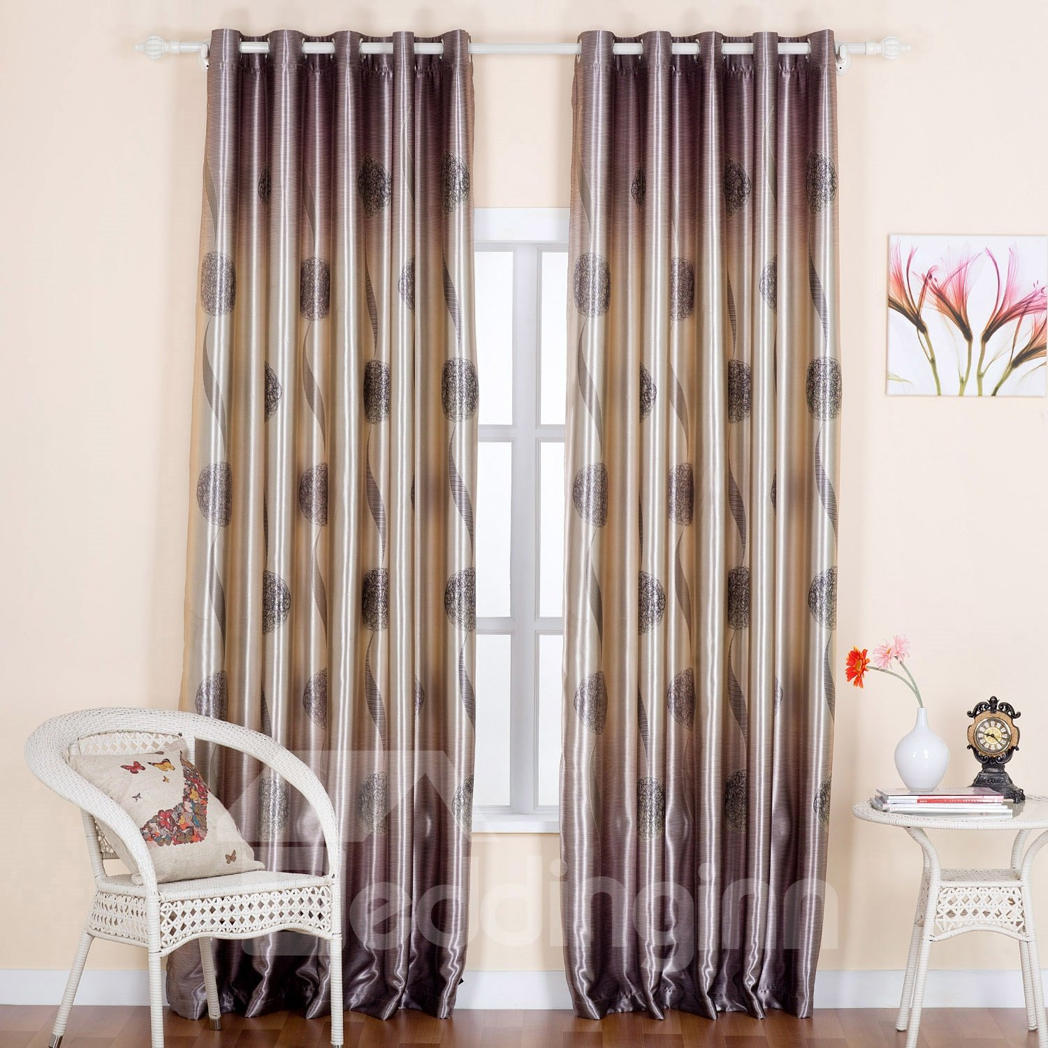 Best Quality Classic Grommet Top Custom Curtain
