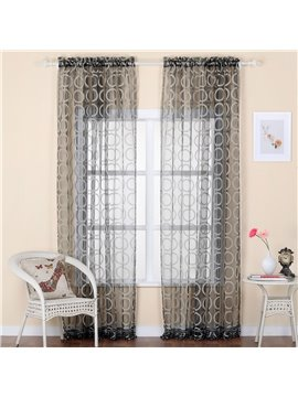 Cut Flowers Fantastic Custom Sheer Curtain with Beads