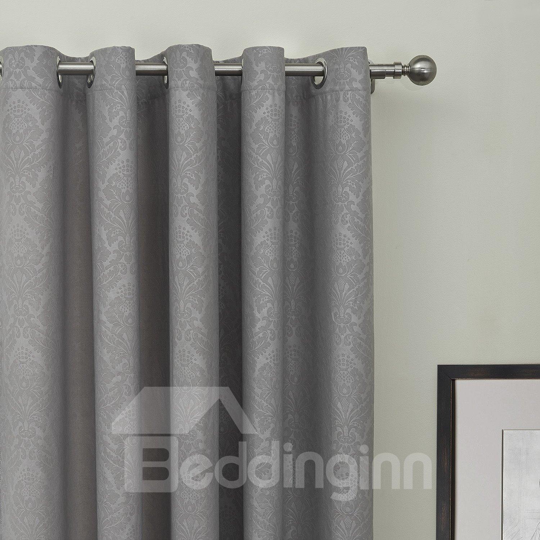 Half Shading Gray Two Sideds Custom Curtain