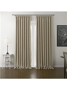 High Density Shading Graceful Beige Custom Curtain