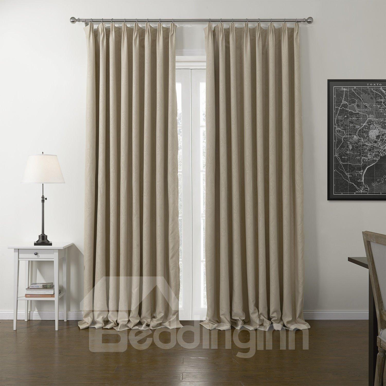 High Density Shading Graceful Beige Custom Curtain