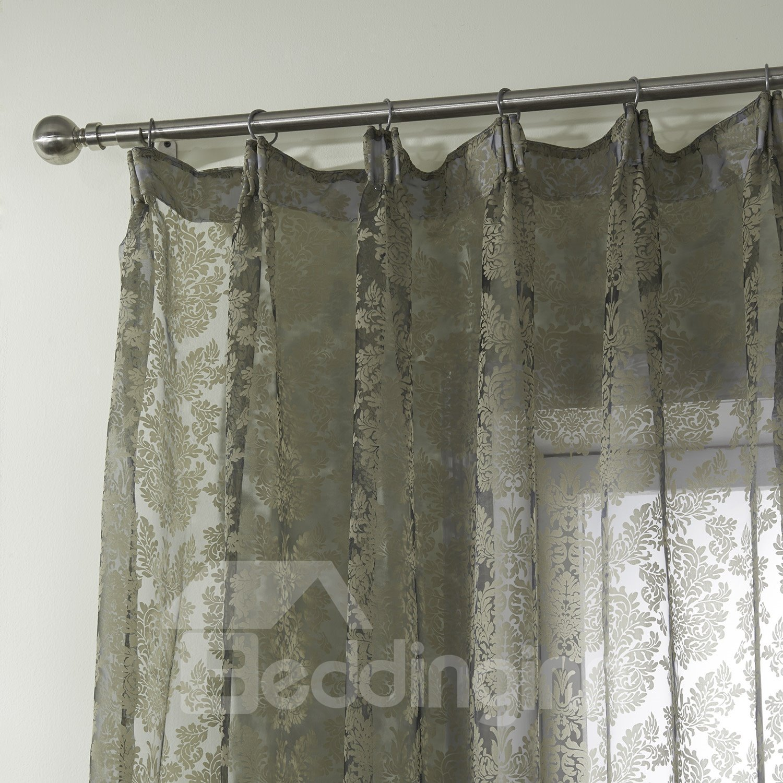 Wonderful Pretty Polyester Brown Custom Sheer Curtain