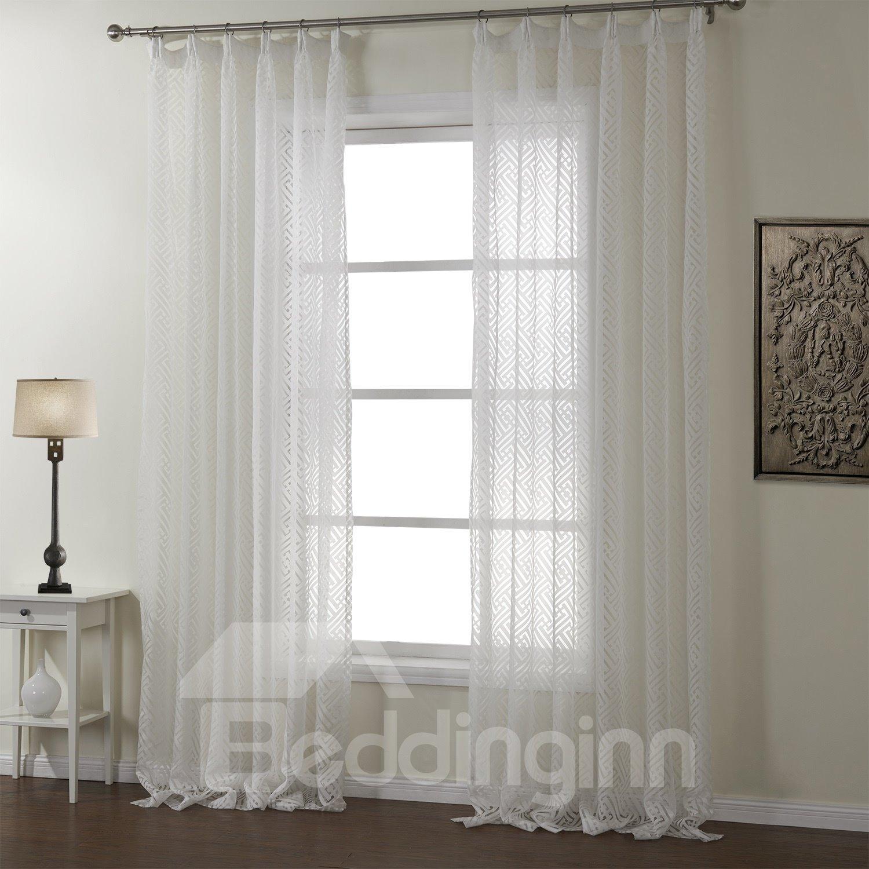 New Style Fantastic Hazy Beauty White Custom Sheer Curtain