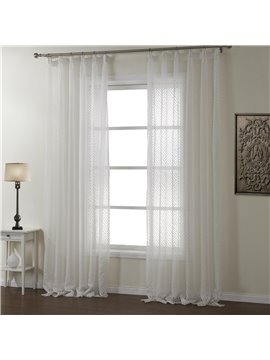 New Style Fantastic Hazy Beauty White Custom Sheer Curtain
