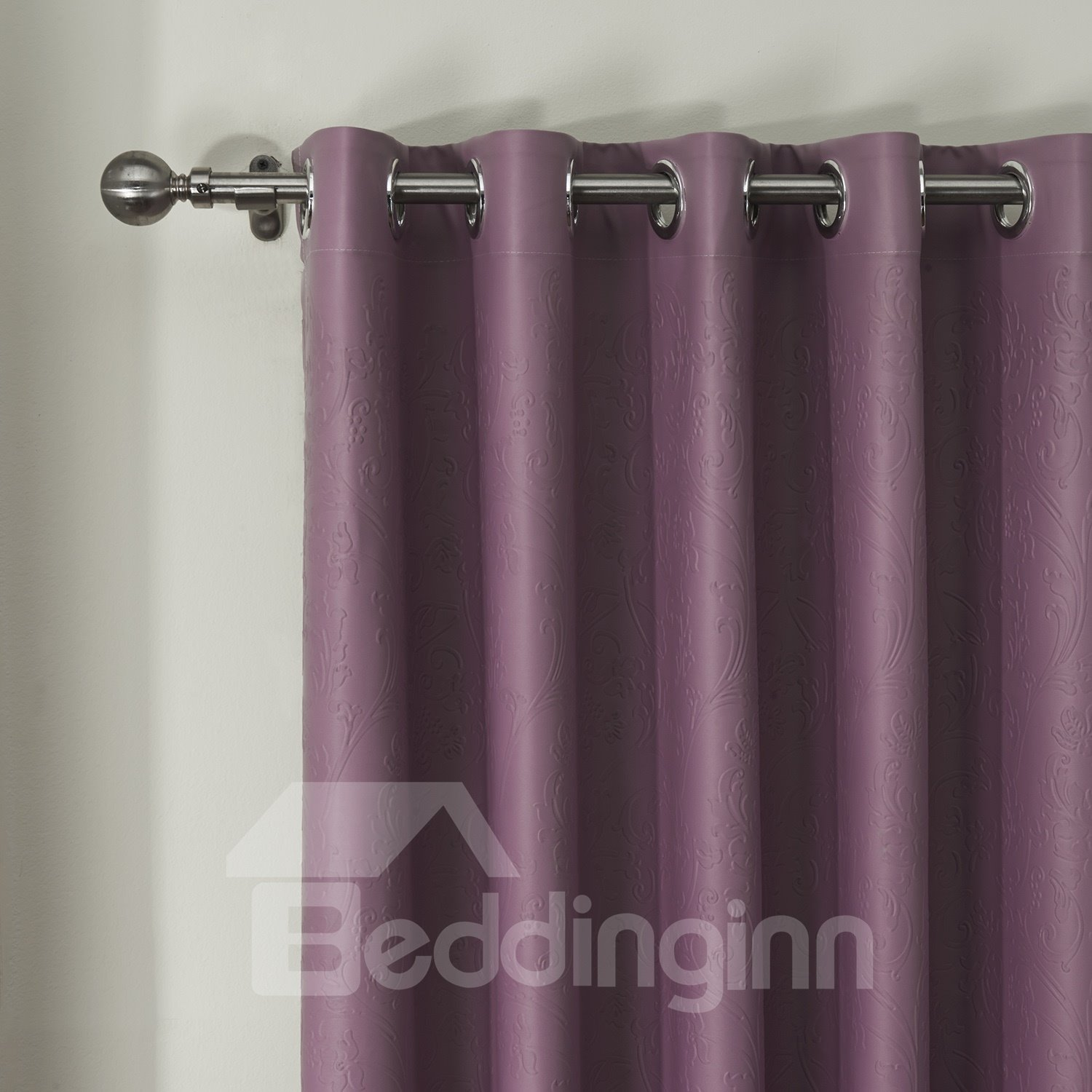 Concave Convex Embossing Crommet Top Custom Curtain