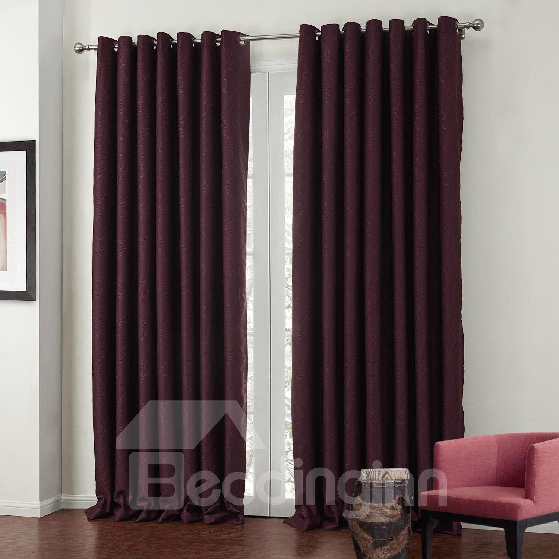 High Quality Wine Red High Density Custom Curtain