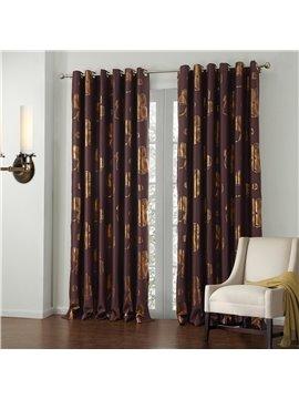 New Style Wonderful Pretty Gold Stamping High Density Custom Curtain