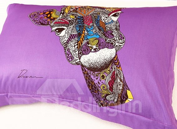 Unique Design  Horse Totem 100% Cotton Duvet Cover Set