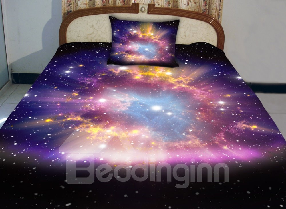 Very Beautiful Shining Star Print 4-Piece Duvet Cover Sets