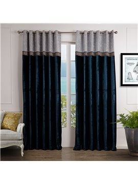 Top Class Decorative Border Design Custom Made Curtain