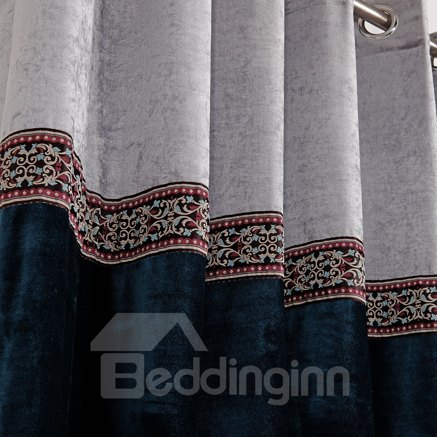 Top Class Decorative Border Design Custom Made Curtain