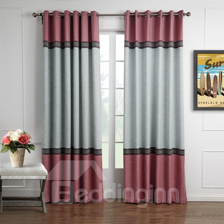 Fantastic Joint Color Decorative Border Design Custom Curtain