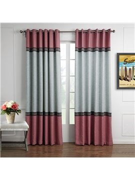 Fantastic Joint Color Decorative Border Design Custom Curtain
