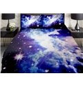 Beautiful Shining Star with Clouds Print 4-Piece Duvet Cover Sets