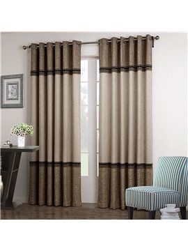 Elegant Joint Color Decorative Border Design Custom Curtain