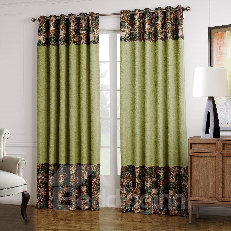 High Quality Fantastic Design Green Custom Curtain