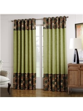 High Quality Fantastic Design Green Custom Curtain