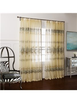 Wonderful Pretty Gold Stamping Custom Sheer Curtain