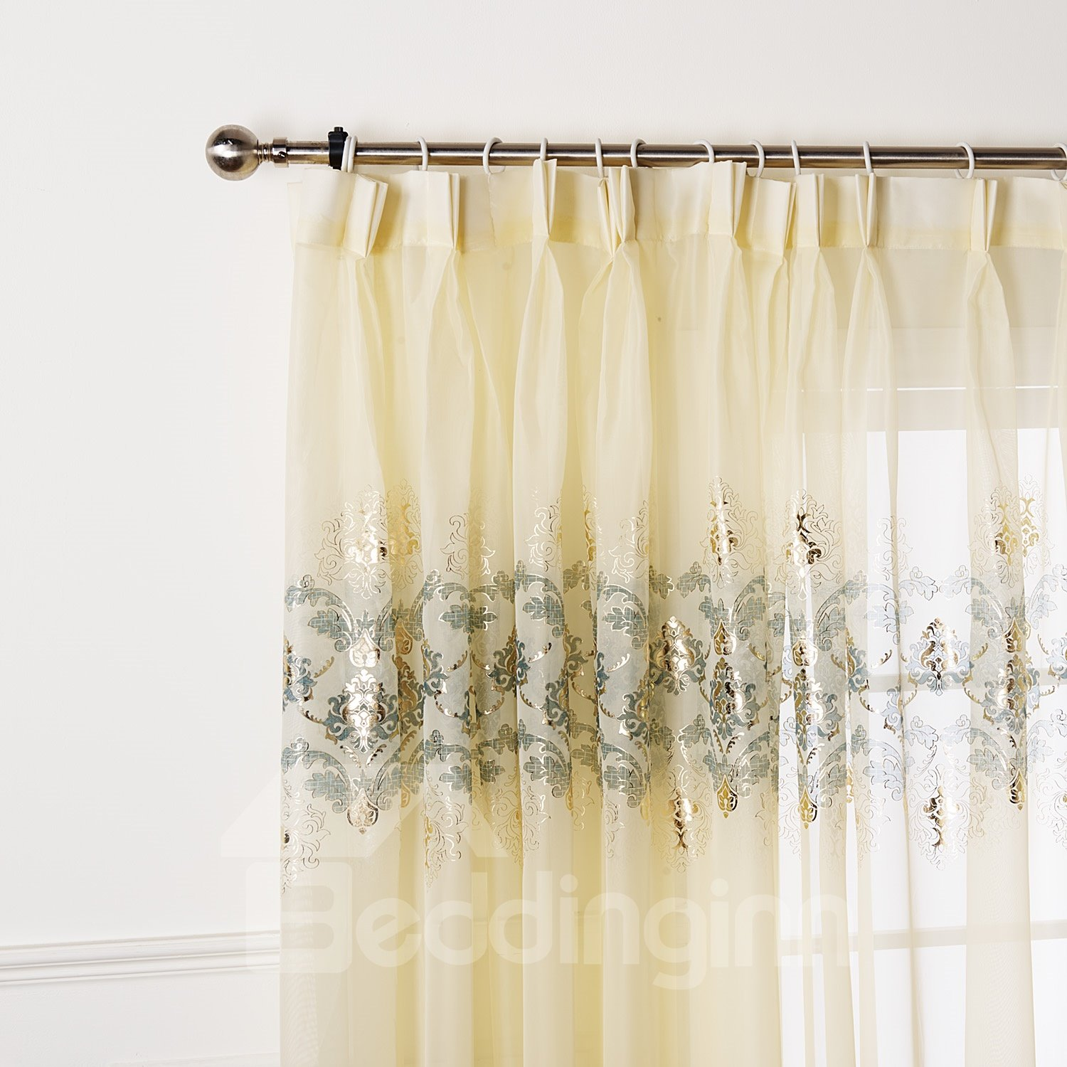 Top Quality Beautiful Transparent Yarn Custom Sheer Curtain