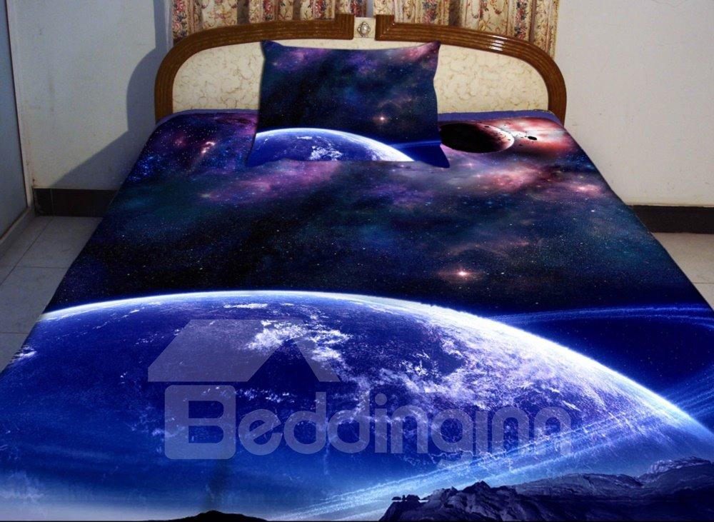 Blue Celestial Body Print 4-Piece Duvet Cover Sets 11001053