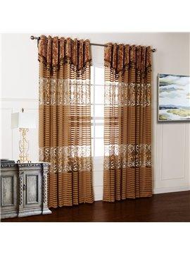 Wonderful Pretty Embroidery Hollow Custom Sheer Curtain