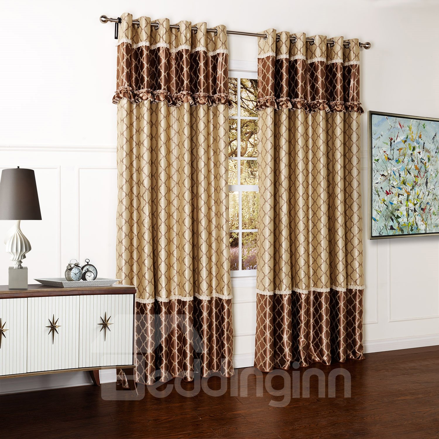 Top Quality Grommet Top Pretty Custom Curtain