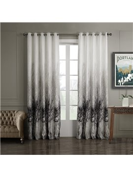 Attractive Elegant Pretty Trees Printing Custom Curtain