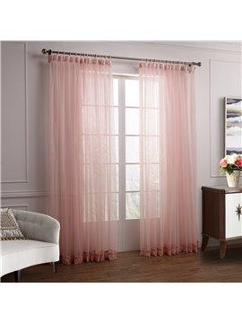 Wonderful Lovely Elegant Pink Cinderella Custom Sheer Curtain