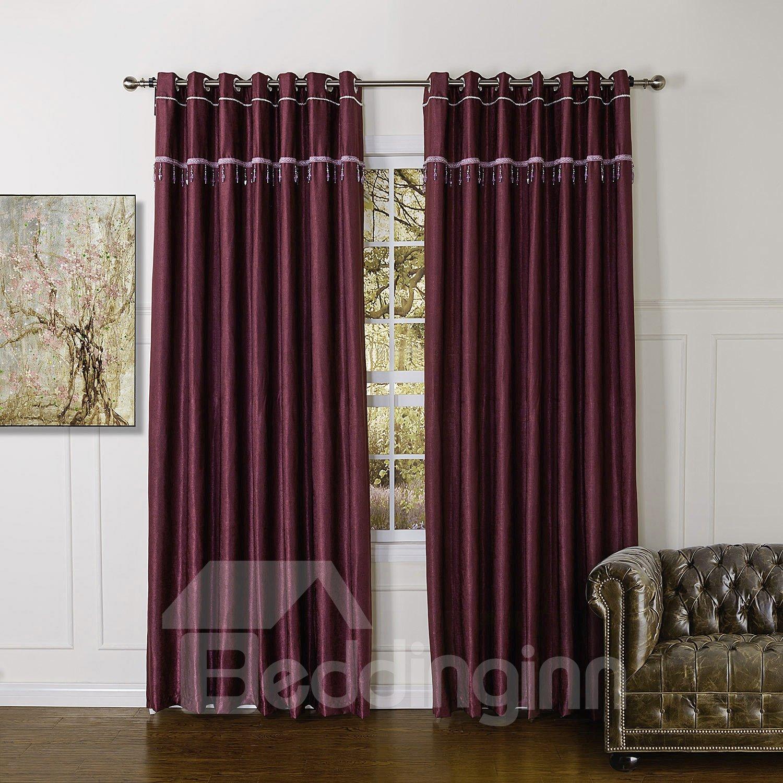 Top Class High Quality Granular Villus Custom Made Curtain