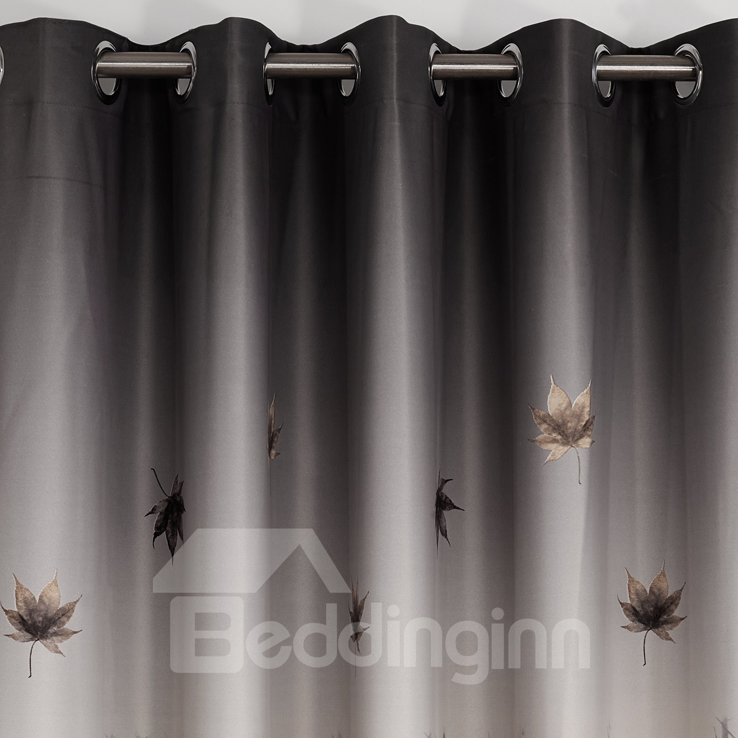 Modern Home Fashion Trees and Leaves Print Blackout Curtain
