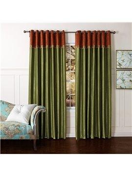 New Style Pretty Green Granular Villus Custom Curtain