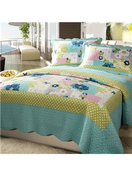 Romantic Colorful Flowers Pattern Bed in a Bag