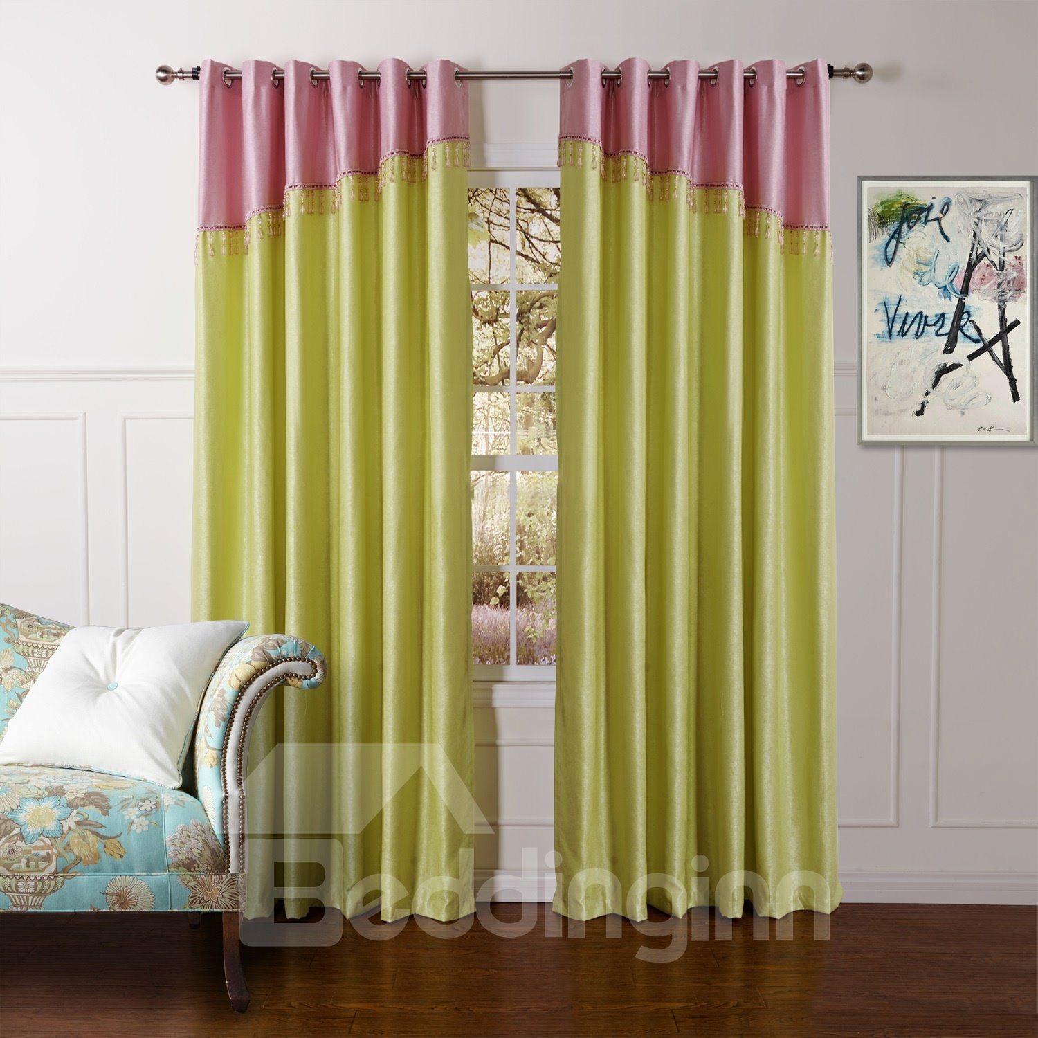 Beautiful Classic Emerald Green Granular Villus Custom Curtain