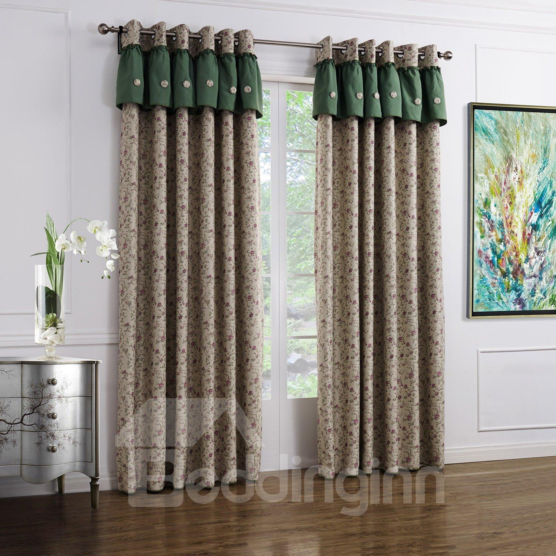 Fantastic Wonderful Grommet Top Double Colors Custom Curtain