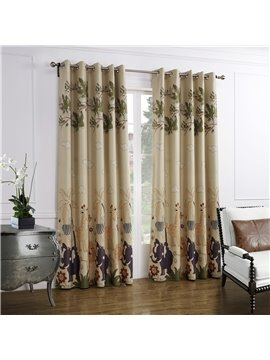 Elegant Grommet Top Two Pieces Custom Curtain